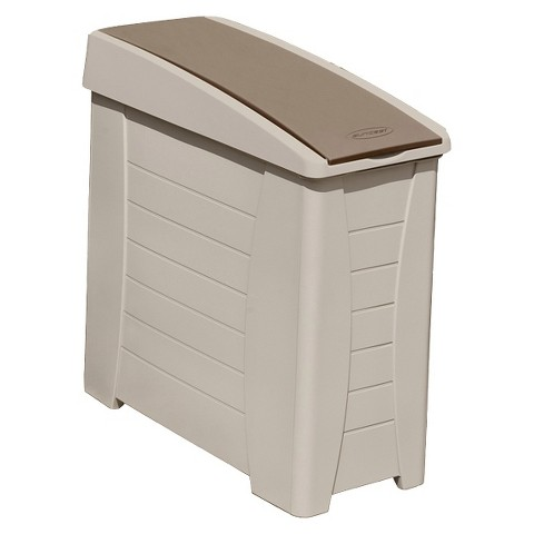 Suncast Deck Storage/Cooler/Trash Side Station - Taupe/Brown