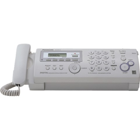 Panasonic Compact Fax/Copier Machine with Answering System - White (KX-FP215)