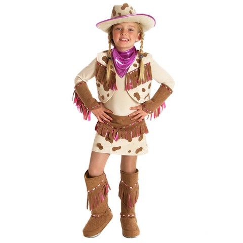 Girl's Rhinestone Cowgirl Costume