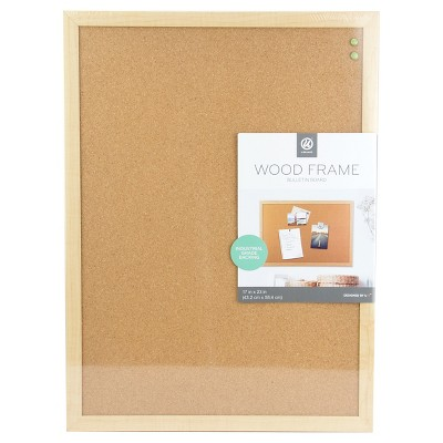 "Ubrands Wood Frame Cork Board - 17"" x 23"""