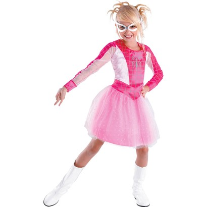 Girl's Spider-Girl Pink Classic Costume