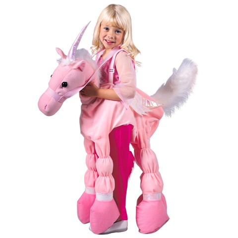 Girl's Pink Ride A Unicorn Costume - Small (5-7)
