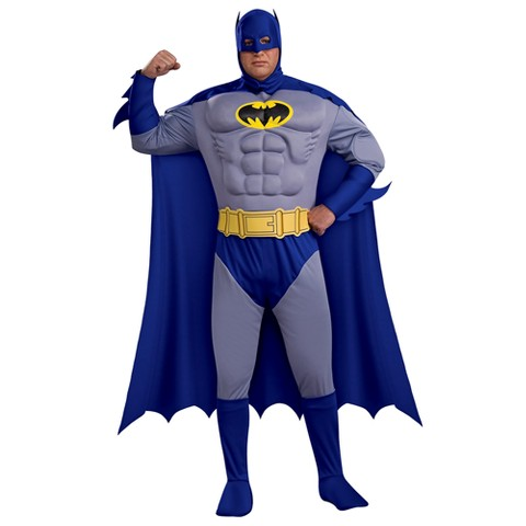 Men's Batman Brave & Bold Deluxe Muscle Chest Costume - Plus Size (44-50)