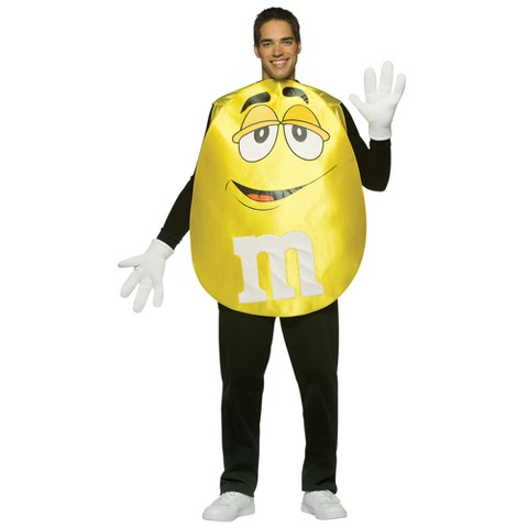 M&Ms Yellow Poncho Adult Costume - One Size