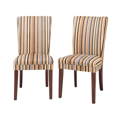 Epic Dining Chair Sasha Upholstered Stripe Fabric Dining Chair Set of