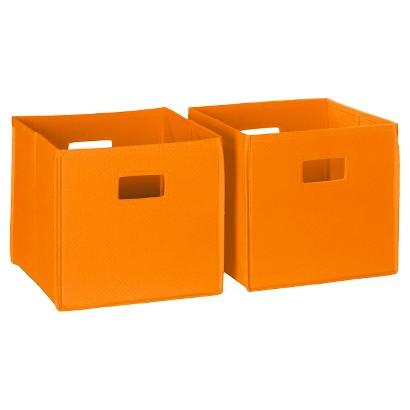 RiverRidge Kids 2 Pc Fabric Cube - Orange