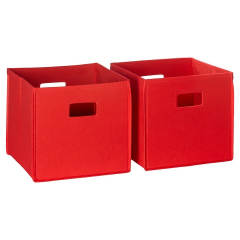 RiverRidge Kids 2 Pc Fabric Cube - Red
