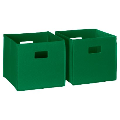 RiverRidge Kids 2 Pc Storage Bins - Green