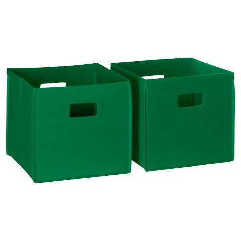 RiverRidge Kids 2 Pc Fabric Cube - Green