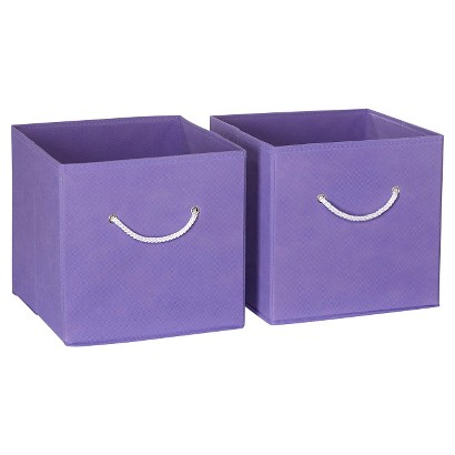 RiverRidge Kids 2 Pc Fabric Cube - Lavender