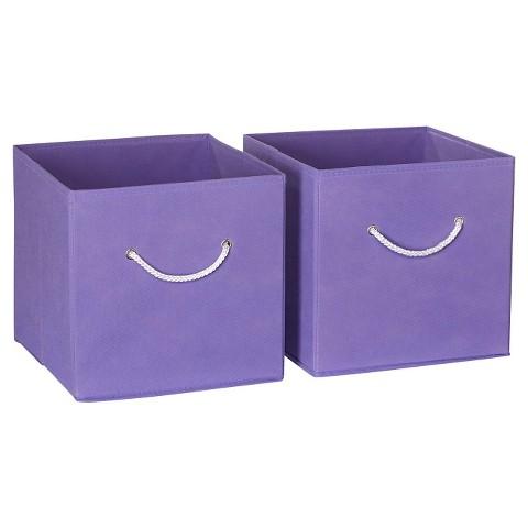RiverRidge Kids 2 Pc Fabric Cube - Lavender