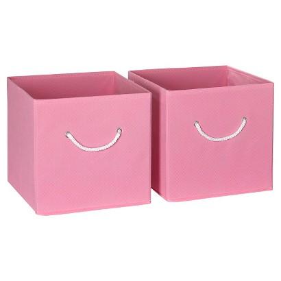 RiverRidge Kids 2 Pc Storage Bins - Pink
