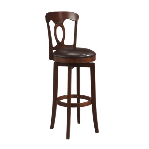 Corsica Swivel Counter Stool Wood Composite/Brown - Hillsdale Furniture
