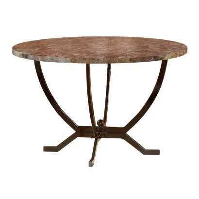 Hillsdale Furniture Monaco Dining Table with Faux Marble Top - Matte Espresso