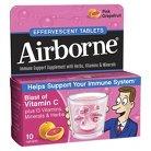 Airborne Blast of Vitamin C Pink Grapefruit Supplement Tablets - 10 Count