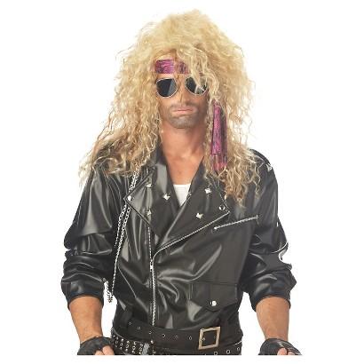 Women's Heavy Metal Rocker Blonde Wig