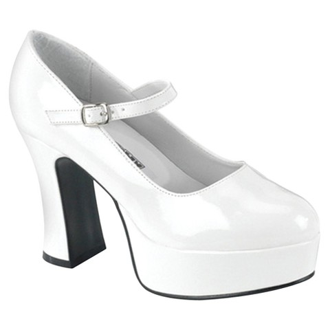 Mary Jane Adult Shoes - White