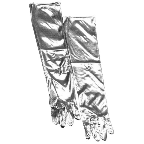 Women's Lame Gloves - Silver