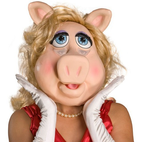 The Muppets Ms. Piggy Deluxe Overhead Latex Mask