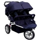 Tike Tech Double City X3 Swivel Stroller - Classic Black