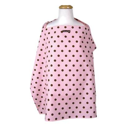 Maya Dot Nursing Cover - Brown,Pink