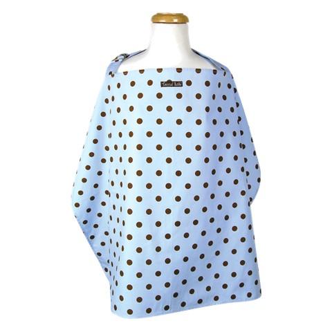 Max Dot Nursing Cover - Blue,Brown