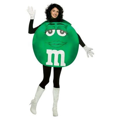 Women's Green M&M Deluxe Costume - One Size Fits Most