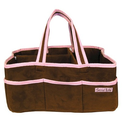 ECOM Trend Lab Storage Caddy- Ultra Suede Pink