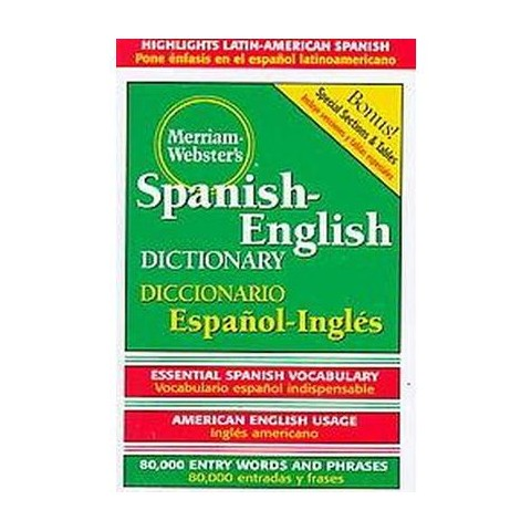 Dic Merriam-Webster's Spanish-English Dictionary (Bilingual) (Hardcover)