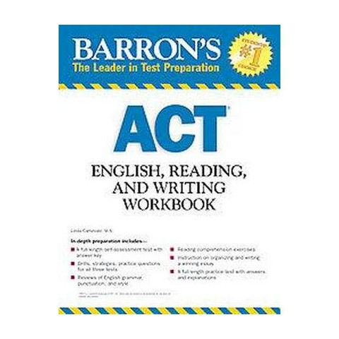 Barron's ACT English, Reading, and Writing Workbook (Paperback)