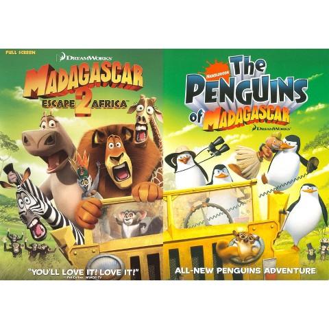 Madagascar: Escape 2 Africa /The Penguins of Madagascar (2 Discs) (Back to Back) (Fullscreen, Widescreen)