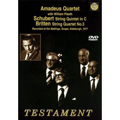 Amadeus Quartet With William Pleeth Play Schunert String Quartet in C/Britten String Quartet No. 3