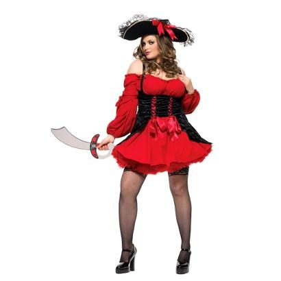 Women's Sassy Pirate Costume - Plus Size
