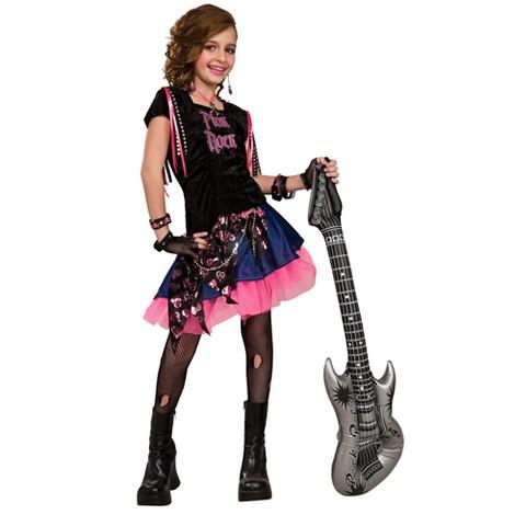Girl's Pink Rocker Girl Costume
