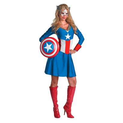 Women's Captain America Classic Costume