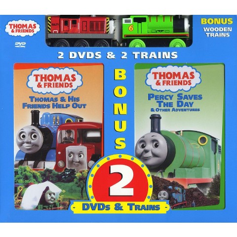 Thomas & Friends: Thomas & His Friends Help Out/Percy Saves the Day (2 Discs) (With Toy)
