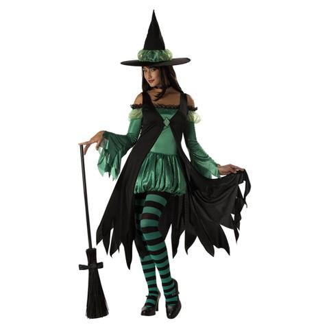 Women's Emerald Witch Costume