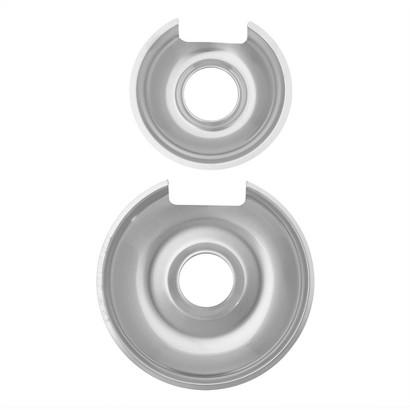 "GE HP Drip Pans 2-pk. - Chrome (6"" & 8"")"