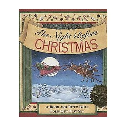 The Night Before Christmas Fold-Out Play Set (Paperback)