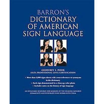 Barron's Dictionary of American Sign Language (Hardcover)