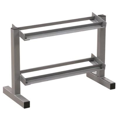 Powerline 2-Tier Dumbbell Rack - Silver