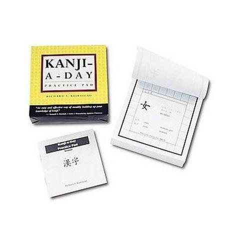 Kanji-A-Day Practice Pad (Bilingual) (Paperback)