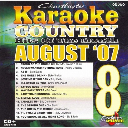 Karaoke: August 2007 Country Hits
