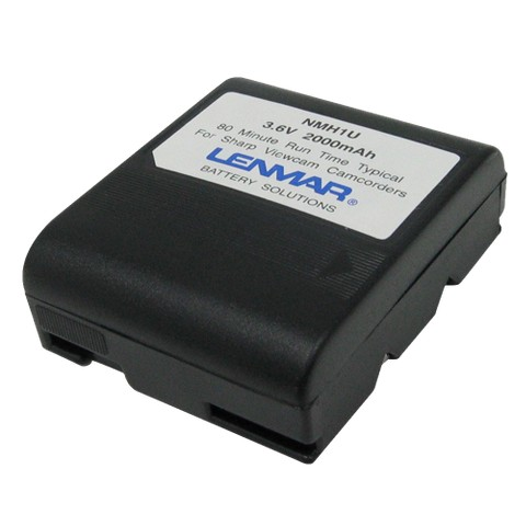 Lenmar Replacement Battery for Sharp Camcorders - Black (NMH1U)