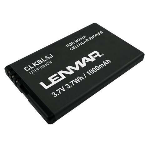 Lenmar Replacement Battery for Nokia Cellular Phones - Black (CLKBL5J)