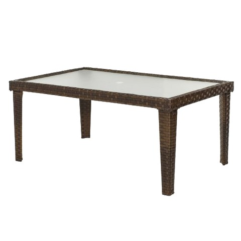 Belmont Wicker Patio Dining Table Product Details Page