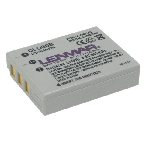 Lenmar Battery replaces Olympus LI-30B - Camera Battery