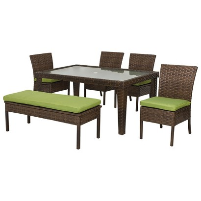 Belmont wicker patio dining furniture collection target for Outdoor furniture target