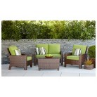 Belmont Brown Wicker Patio Conversation Furni...