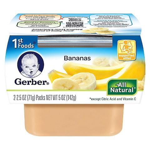 Gerber 1st Foods Bananas - 5.0 oz. (8 Pack)